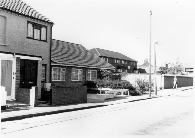 Back Street bungalows replaced  Bridge House 1995