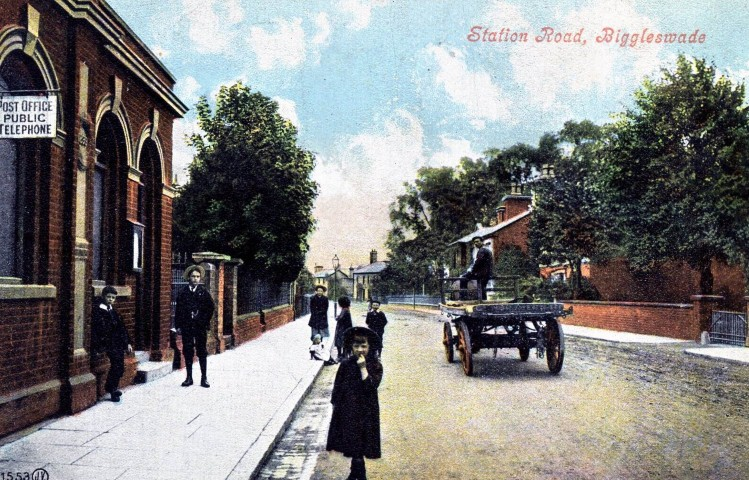 Station Road 1910 with the Post Office