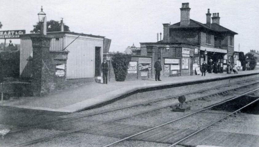 First Railway Station taken in 1901 by Ernest Chew